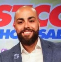 Anthony Taza Headshot in front of Costco sign